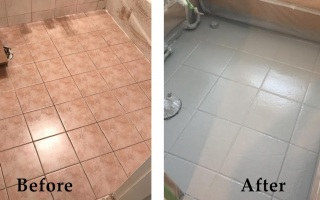 Bathroom Floor Reglazing