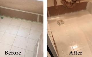 Bathroom Floor Reglazing