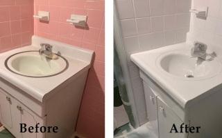Bathroom Vanity Reglazing