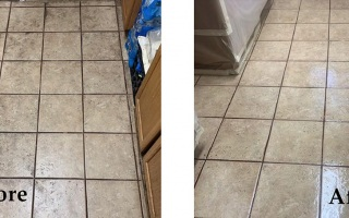 Kitchen Tile Reglazing