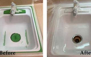 Kitchen Tile Reglazing